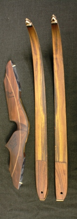 All Bolivian rosewood riser with myrtle limbs and elk antler tips