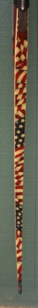 Paduk/grey laminated maple riser with flag print/bamboo core limbs