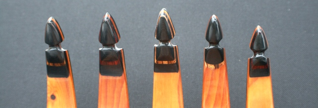 Maverick recurve tips standard with micarta and exotic wood