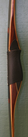 cocobolo/micarta riser with carbon/yew limbs and elk antler tips